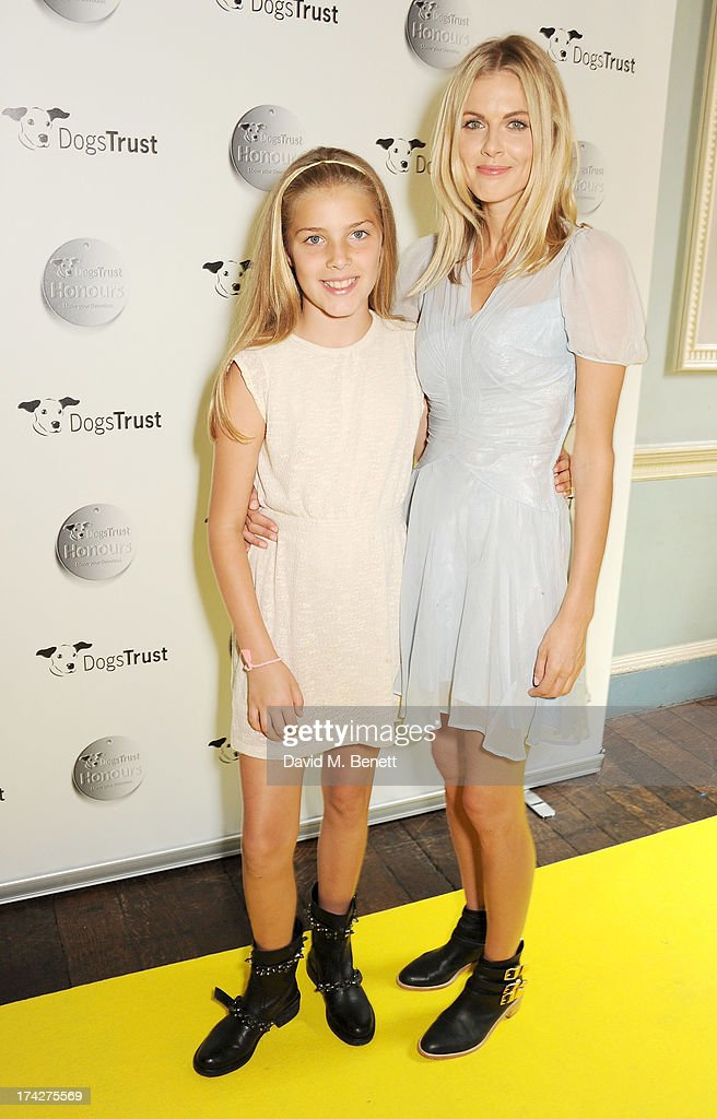 Donna Air (R) and daughter Freya Aspinall attend the Dogs Trust Honours held at Home House on July 23, 2013 in London, England.