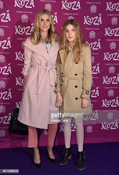 Donna Air and daughter Freya attend the VIP performance of Kooza by Cirque Du Soleil at Royal Albert Hall on January 6 2015 in London England