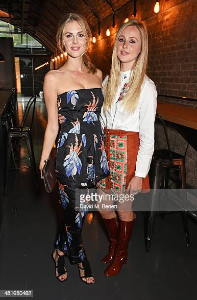 Donna Air and Diana Vickers attend the Amazon Fashion Photography Studio launch party which opened on July 23 2015 in London England Guest of honour...