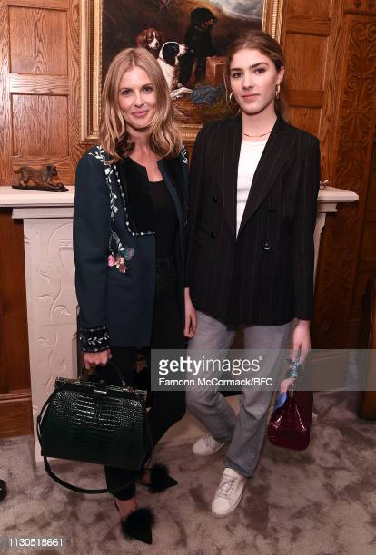 Donna Air and Freya Air Aspinall attend the Aspinal of London AW19 presentation during London Fashion Week February 2019 at the Aspinal Of London on...