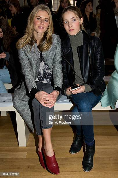 Donna Air and Freya Air Aspinall attend the Issa show during London Fashion Week Fall/Winter 2015/16 at on February 22 2015 in London England