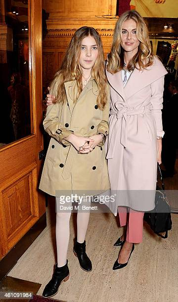 Donna Air and Freya Air Aspinall attends the VIP performance of Kooza by Cirque Du Soleil at Royal Albert Hall on January 6 2015 in London England