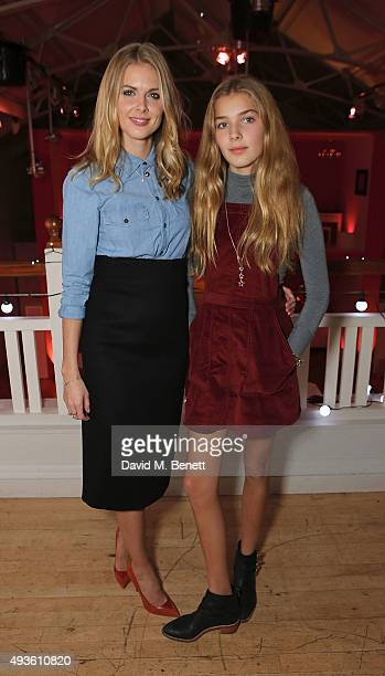 Donna Air and Freya Air attend the Verycouk fashion presentation at the Hellenic Centre Marylebone on October 21 2015 in London England