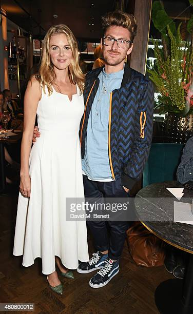 Donna Air and Henry Holland attend the launch of Sackville's Bar Grill in Mayfair on July 15 2015 in London England