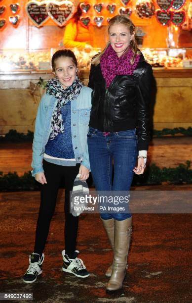 Donna Air and her daughter Freya Aspinall arrive at the opening of Winter Wonderland in Hyde Park London