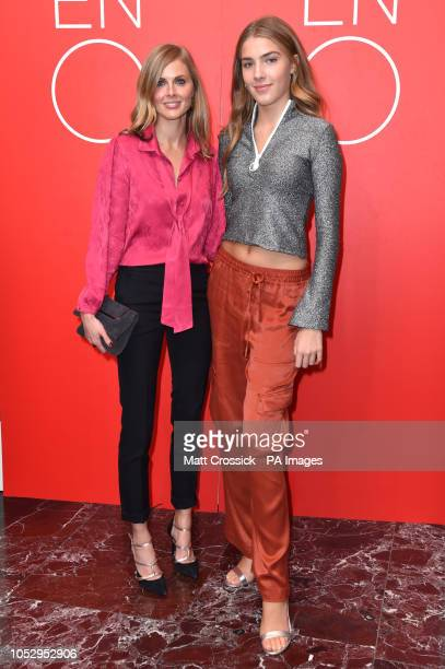 Donna Air and her daughter Freya Aspinall attending a VIP performance of Porgy and Bess at the London Coliseum theatre