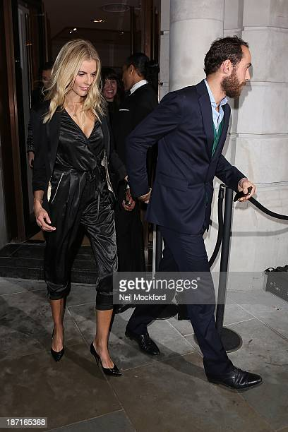 Donna Air and James Middleton at the UK flagship store launch of J Crew on November 6 2013 in London England