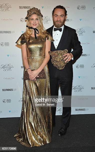 Donna Air and James Middleton attend The Animal Ball 2016 presented by Elephant Family at Victoria House on November 22, 2016 in London, England.