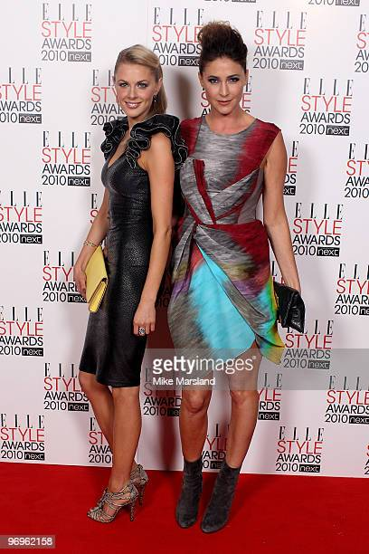 Donna Air and Lisa Snowden arrive for the ELLE Style Awards 2010 at the Grand Connaught Rooms on February 22 2010 in London England