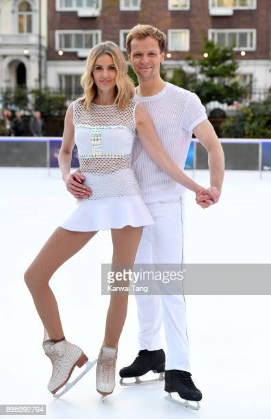 Donna Air and Mark Hanretty attend the Dancing On Ice 2018 photocall held at Natural History Museum Ice Rink on December 19, 2017 in London, England.