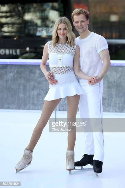 Donna Air and Mark Hanretty skate during the Dancing On Ice 2018 photocall held at Natural History Museum Ice Rink on December 19 2017 in London...