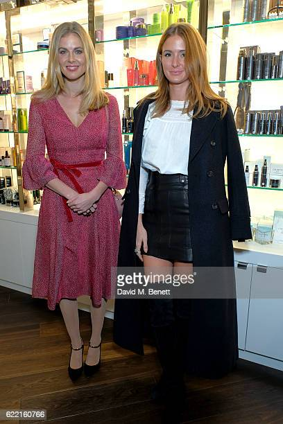 Donna Air and Millie MacKintosh attend a preview party to unveil leading British Luxury Beauty Retailer Space NKs first concept store, Innovation by...