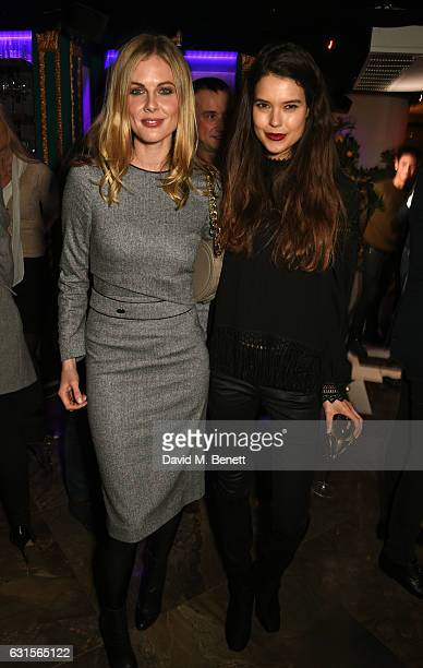 Donna Air and Sarah Ann Macklin attend the launch of Bunga Bunga in Covent Garden on January 12 2017 in London England
