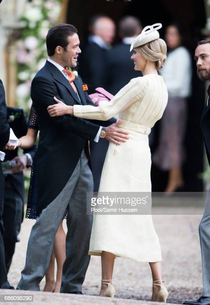 Donna Air and Spencer Matthews attend the wedding Of Pippa Middleton and James Matthews at St Mark's Church on May 20 2017 in Englefield Green England
