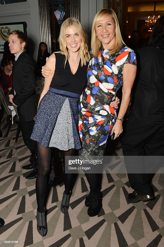 Donna Air and Tania Bryer attend the Health Lottery champagne tea at Claridges on March 28, 2013 in London, England.