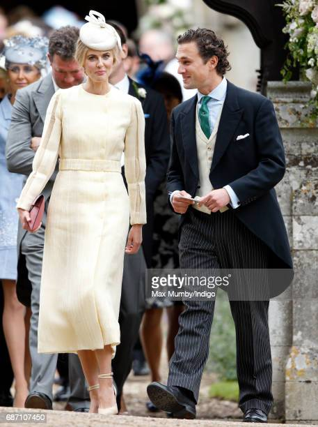 Donna Air and Thomas van Straubenzee attend the wedding of Pippa Middleton and James Matthews at St Mark's Church on May 20, 2017 in Englefield...