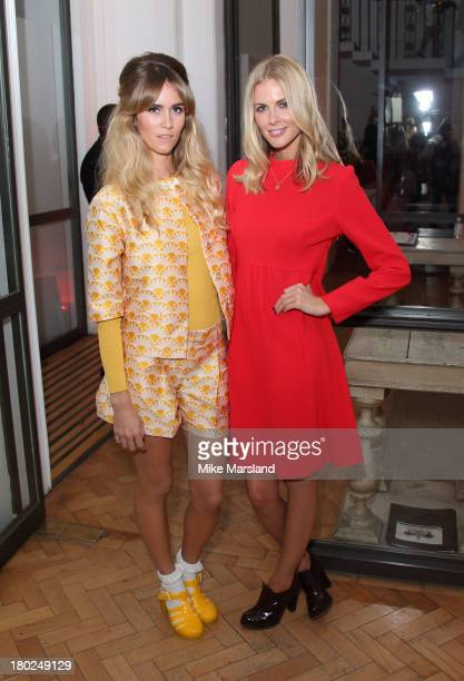 Donna Air and Whinnie Williams attend the 80th anniversary party of iCandy at One Marylebone on September 10 2013 in London England
