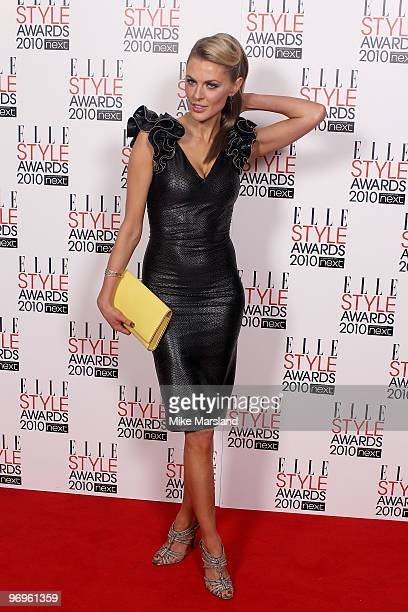 Donna Air arrives for the ELLE Style Awards 2010 at the Grand Connaught Rooms on February 22, 2010 in London, England.