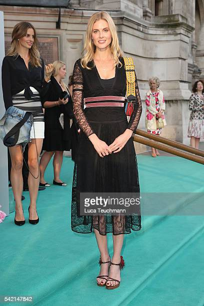 Donna Air arrives for the VA Summer Party at Victoria and Albert Museum on June 22 2016 in London England