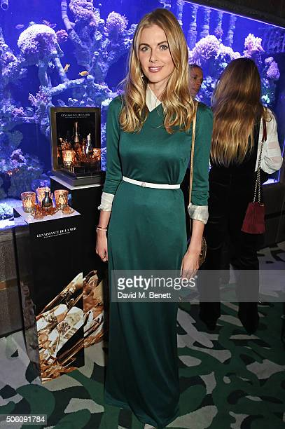 Donna Air attends a private dinner hosted by Creme de la Mer to celebrate the launch of Genaissance de la Mer the Serum Essence available exclusively...