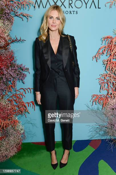 Donna Air attends a private dinner hosted by Natalia Vodianova Maxx Royal Resorts during London Fashion Week February 2020 on February 17 2020 in...