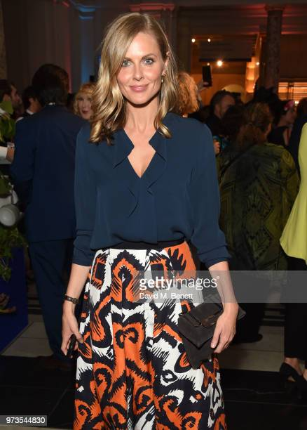 Donna Air attends a private view of 'Frida Kahlo Making Her Self Up' at The VA on June 13 2018 in London England