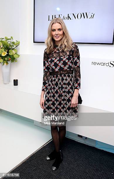 Donna Air attends as rewardStyle host a London Fashion Week Party at IceTank on February 21 2016 in London England