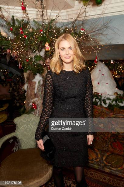 Donna Air attends Marina Raphael x Costarellos cocktail party presenting exclusive capsule collection for Harrods on December 05 2019 in London...