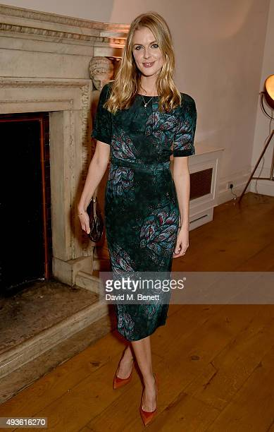Donna Air attends the Baccarat/1 Hotel Dinner at One Horse Guards on October 21 2015 in London England