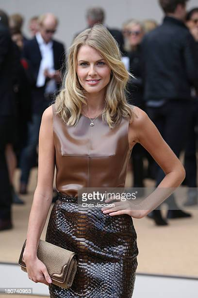 Donna Air attends the Burberry Prorsum show at London Fashion Week SS14 at Kensington Gardens on September 16 2013 in London England