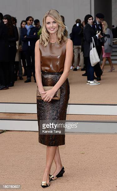 Donna Air attends the Burberry Prorsum show during London Fashion Week SS14 at Kensington Gardens on September 16 2013 in London England
