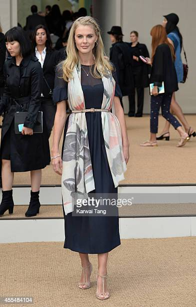 Donna Air attends the Burberry Prorsum show during London Fashion Week Spring Summer 2015 at Kensington Gardens on September 15 2014 in London England