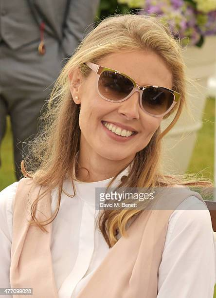 Donna Air attends The Cartier Queen's Cup final at Guards Polo Club on June 14 2015 in Egham England