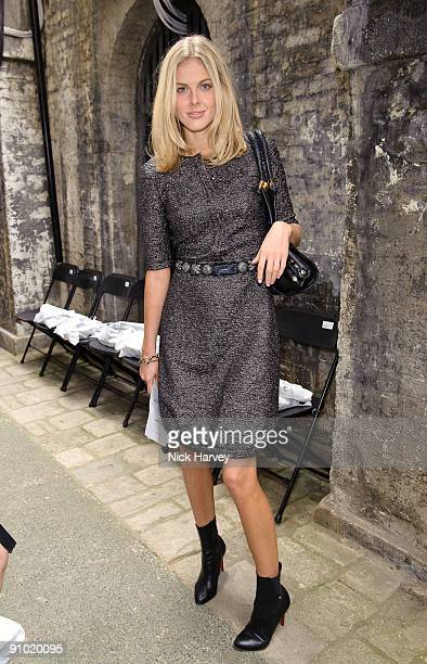 Donna Air attends the Fashion East show at London Fashion Week Spring/Summer 2010 at Somerset House on September 22 2009 in London England