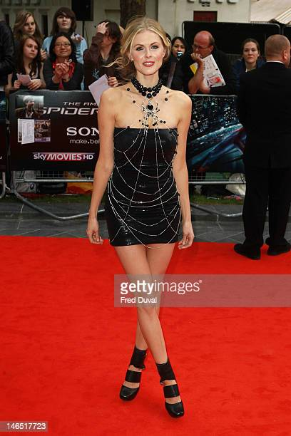 Donna Air attends the Gala Premiere of The Amazing SpiderMan at Odeon Leicester Square on June 18 2012 in London England