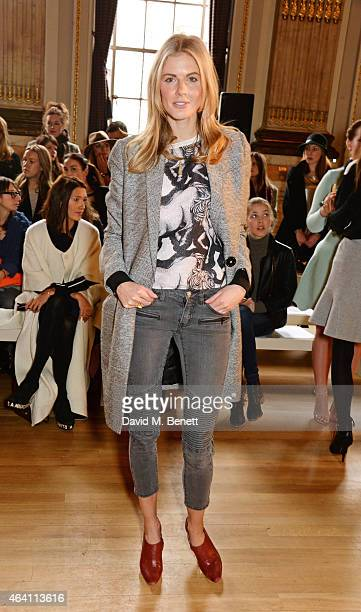 Donna Air attends the ISSA Autumn/Winter 2015 Runway Show during London Fashion Week at One Great George Street on February 22 2015 in London England
