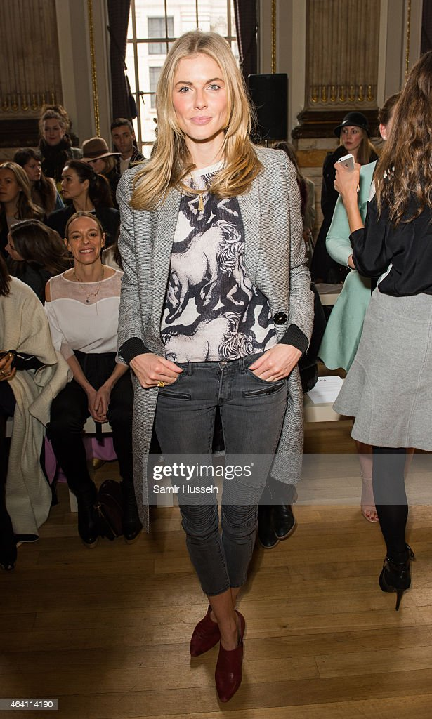 Donna Air attends the Issa show during London Fashion Week Fall/Winter 2015/16 on February 22, 2015 in London, United Kingdom.
