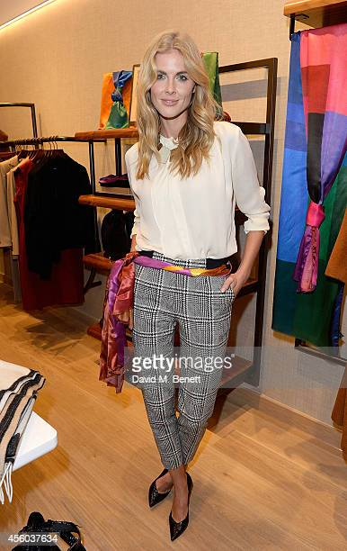 Donna Air attends the Jaeger store relaunch as the new store concept in Chelsea is unveiled on September 24 2014 in London England