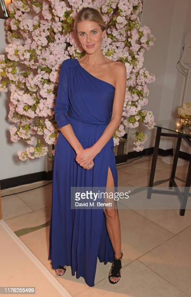 Donna Air attends the Lady Garden Foundation Gala 2019 at Claridge's Hotel on October 16, 2019 in London, England.