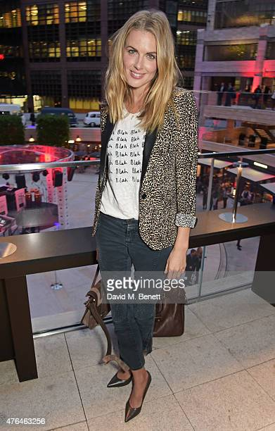 Donna Air attends the launch of Broadgate Circle, London's new dining hub, on June 9, 2015 in London, England.