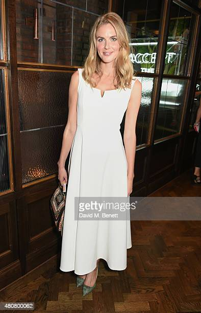 Donna Air attends the launch of Sackville's Bar Grill in Mayfair on July 15 2015 in London England