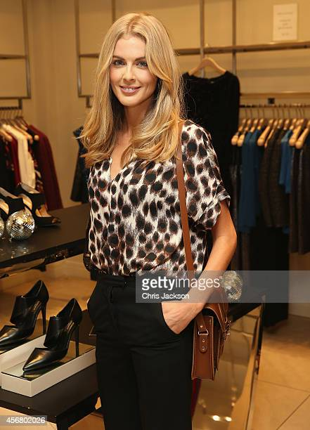 Donna Air attends the LBD by L.K.B cocktail launch party at L.K. Bennett on October 7, 2014 in London, England.