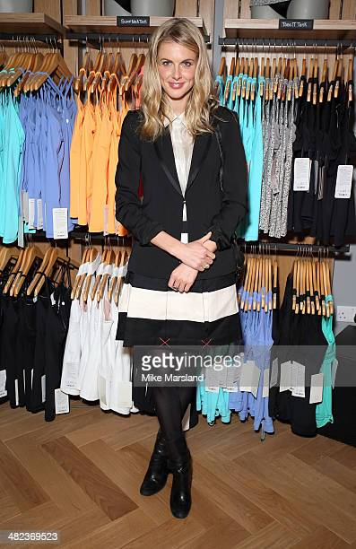 Donna Air attends the Lululemon launch party to celebrate there first store in UK on April 3 2014 in London England