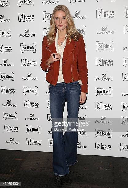 Donna Air attends the Natural History Museum Swarovski Ice Rink Launch at Natural History Museum on October 28, 2015 in London, England.