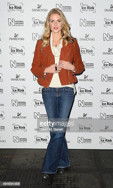 Donna Air attends the Natural History Museum Swarovski Ice Rink Opening Night at Natural History Museum on October 28 2015 in London England