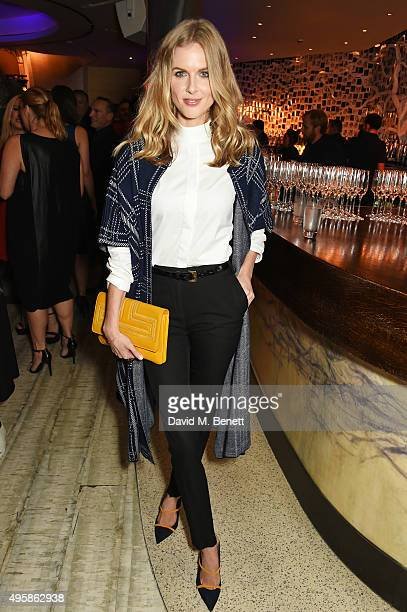 Donna Air attends the Nobu Berkeley St 10th anniversary party supported by Malone Souliers and Ciroc Vodka on November 5 2015 in London England