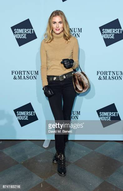 Donna Air attends the opening party of Skate at Somerset House with Fortnum & Mason on November 14, 2017 in London, England. London's favourite...