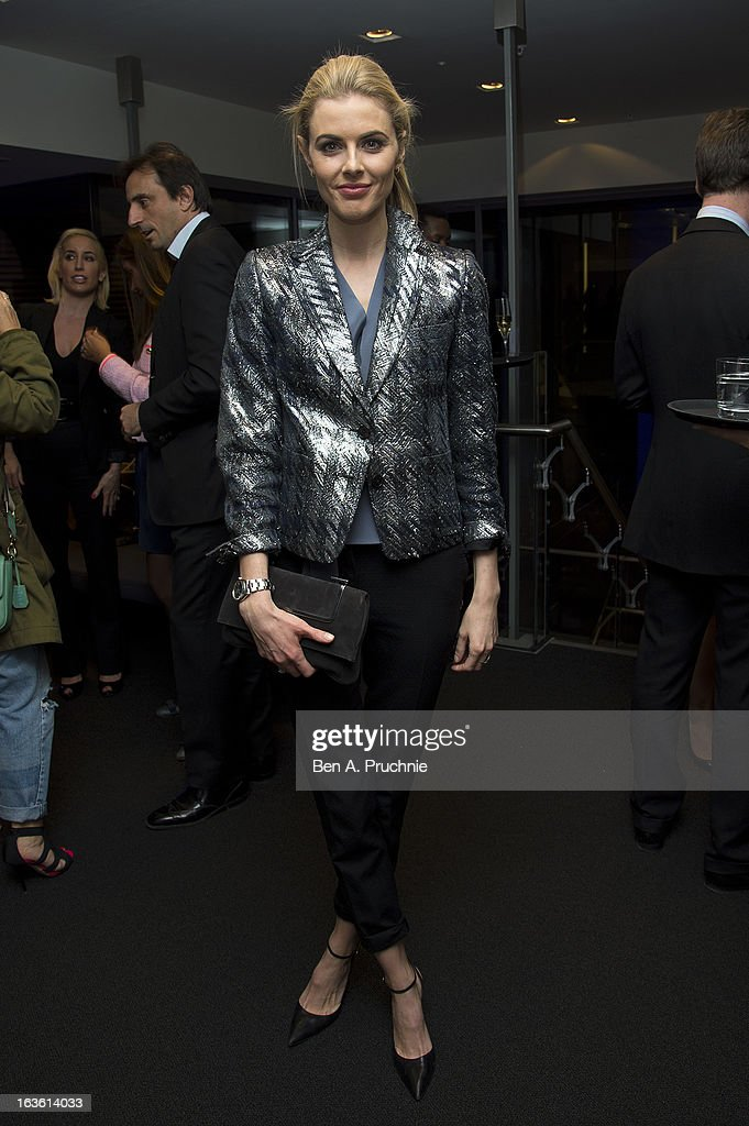 Donna Air attends the screening of Tania Bryer's CNBC interview with former President Bill Clinton on March 13, 2013 in London, England.