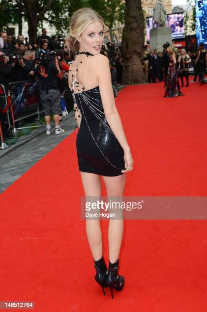 Donna Air attends the UK premiere of The Amazing SpiderMan at The Odeon Leicester Square on June 18 2012 in London England