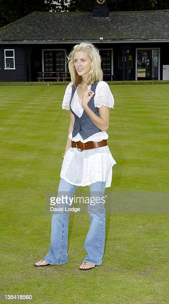 Donna Air during Will You Be My Primate Day at Hyde Park Sports Centre in London Great Britain